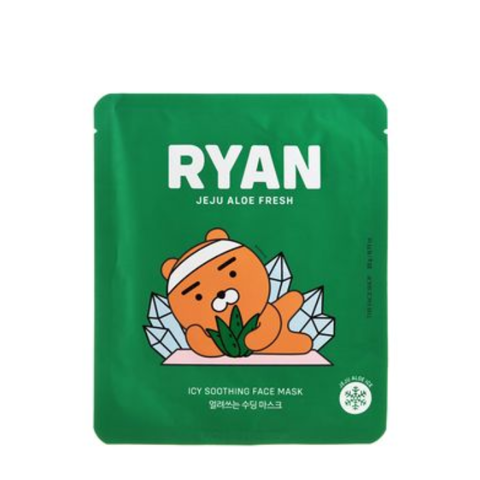 [KAKAO x RYAN] Mặt Nạ RYAN JEJU ALOE FRESH ICY SOOTHING FACE MASK 22g