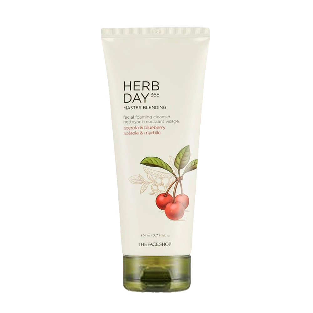 Sữa Rửa Mặt Tạo Bọt HERB DAY 365 MASTER BLENDING FACIAL FOAMING CLEANSER ACEROLA & BLUEBERRY 170ml