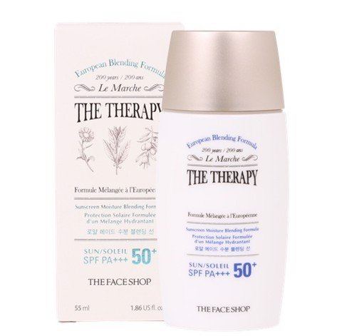 Kem Chống Nắng THE THERAPY SUNSCREEN MOISTURE BLENDING FORMULA SPF50 PA+++ 55ML