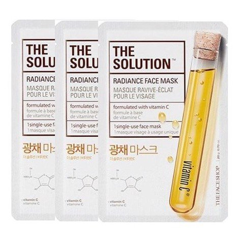 Mặt Nạ Làm Sáng Da THE SOLUTION RADIANCE FACE MASK (SET 3PCS)