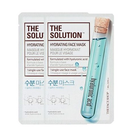 Mặt Nạ Cung Cấp Ẩm THE SOLUTION HYDRATING FACE MASK (2 sheets)