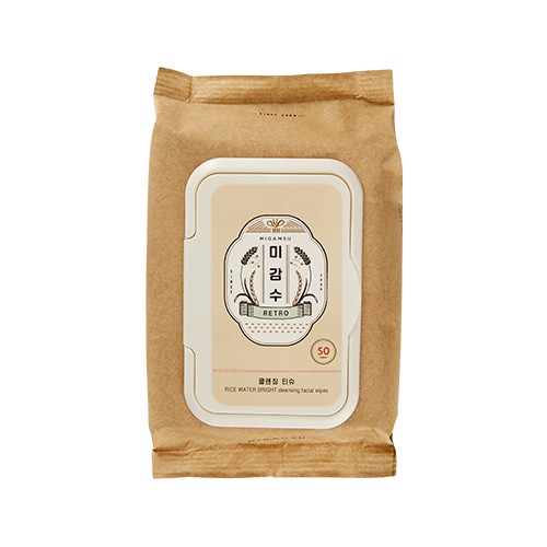 [SPECIAL EDITION] Khăn Giấy Tẩy Trang Làm Sáng Da THEFACESHOP RICE WATER BRIGHT CLEANSING WIPES