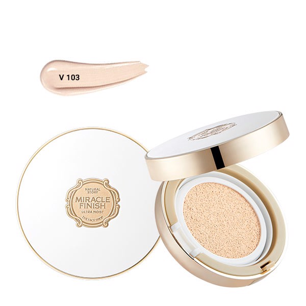 Phấn Nước Bổ Sung Ẩm MIRACLE FINISH CC ULTRA MOIST CUSHION SPF50+ PA+++V103