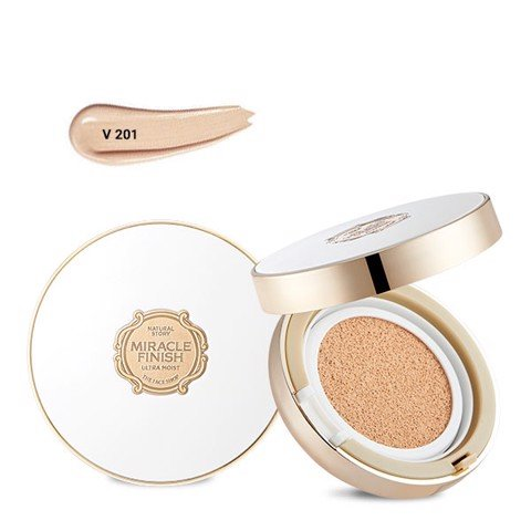 Phấn Nước Bổ Sung Ẩm MIRACLE FINISH CC ULTRA MOIST CUSHION SPF50+ PA+++V201