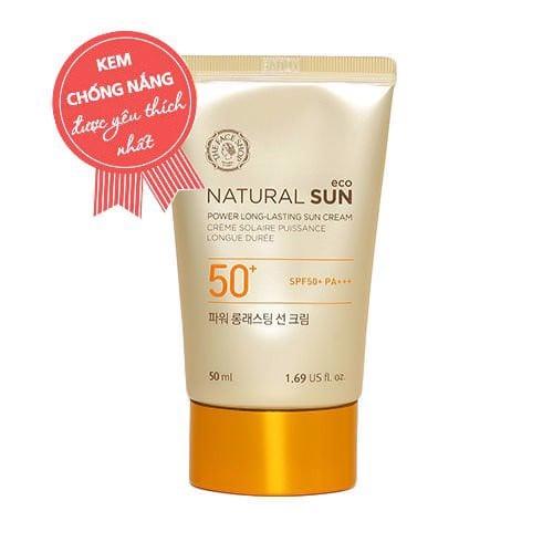 Kem Chống Nắng Đa Chức Năng NATURAL SUN ECO POWER LONG-LASTING SUN CREAM SPF50+ PA+++