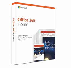 Microsoft 365 Family English APAC EM Subscr 1YR Medialess P6 6GQ-01144