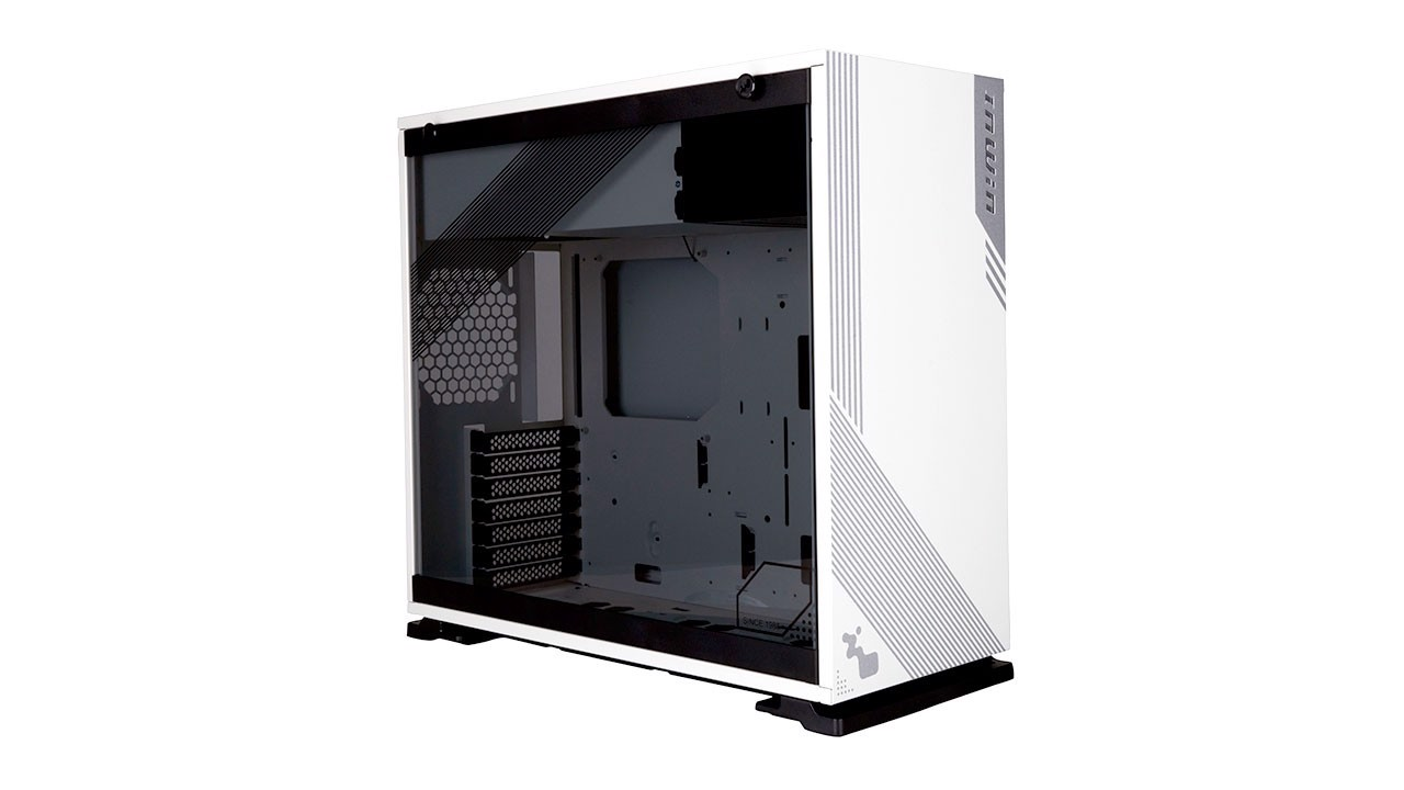 Case In-Win 103 White – Full Side Tempered Glass Mid-Tower