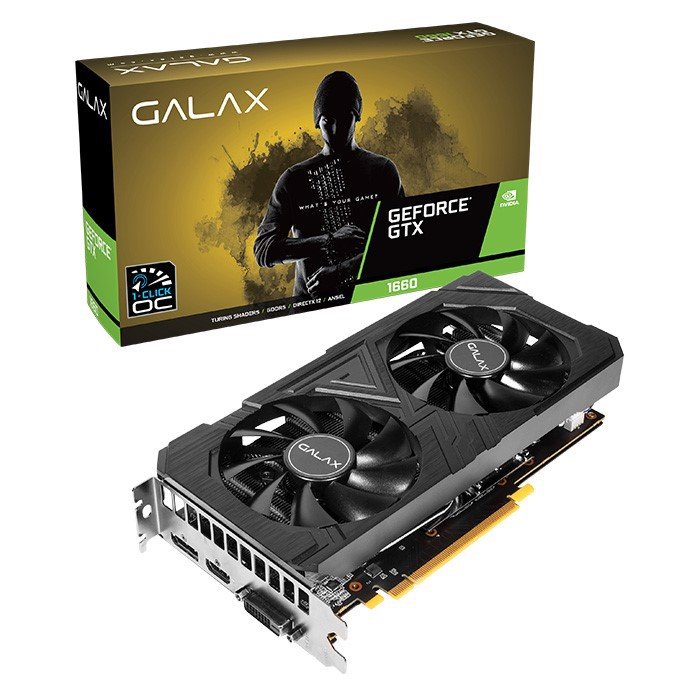 Card màn hình GALAX GeForce GTX 1660Ti 6GB GDDR6 EX Black