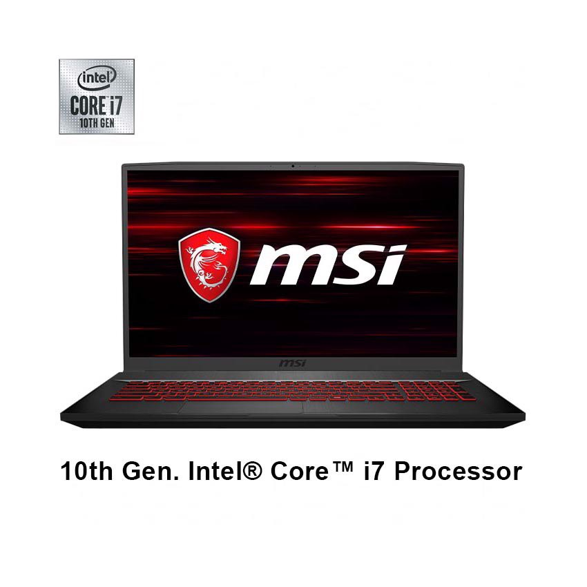 Laptop MSI Gaming GF75 Thin 10SCSR (208VN) (i7 10750H 8GB RAM/512GBSSD/GTX 1650Ti 4G DDR6/17.3 inch FHD 144Hz/Win 10)