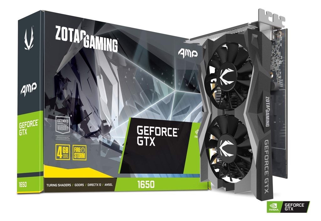 Card màn hình ZOTAC GAMING GeForce GTX 1650 AMP