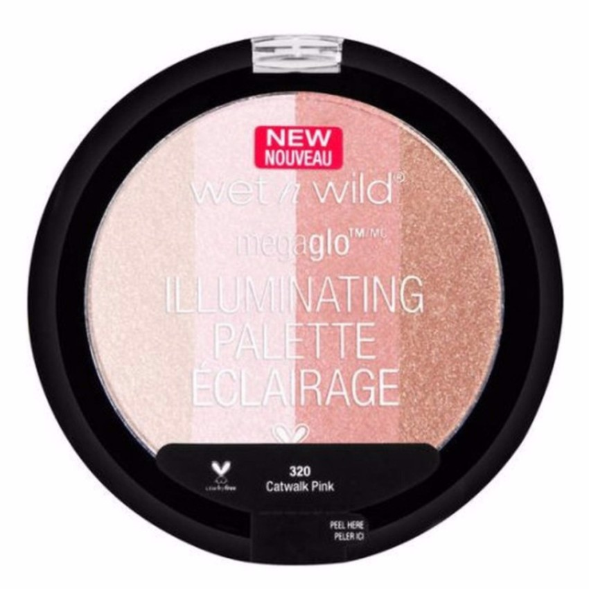 Bảng phấn highlight Wet n Wild Illuminating Palette 320 Catwalk Pink