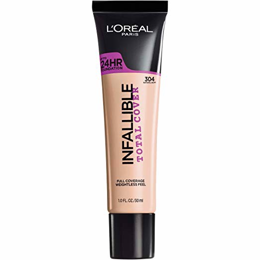 Kem nền tuýp L'oreal Infallible Total Cover Natural Buff 304