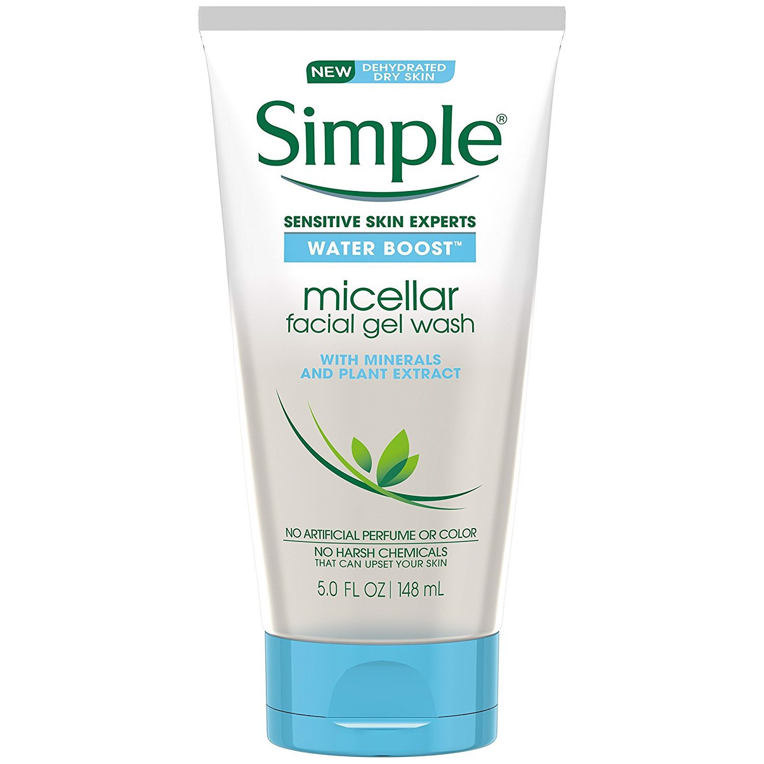 Sữa rửa mặt Simple Sensitive Skin Experts Water Boost With Minerals And Plant Extract 148ml