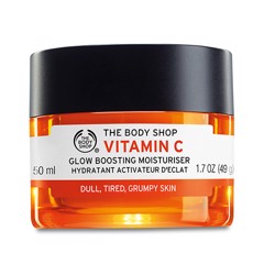 Kem dưỡng The Body Shop Vitamin C Glow Boosting Moisturiser For Dull, Tired, Grumpy Skin 49g
