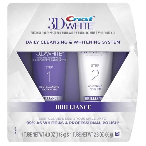 Set kem đánh răng 2 Step Crest Brilliance Daily Cleansing & Whitening System