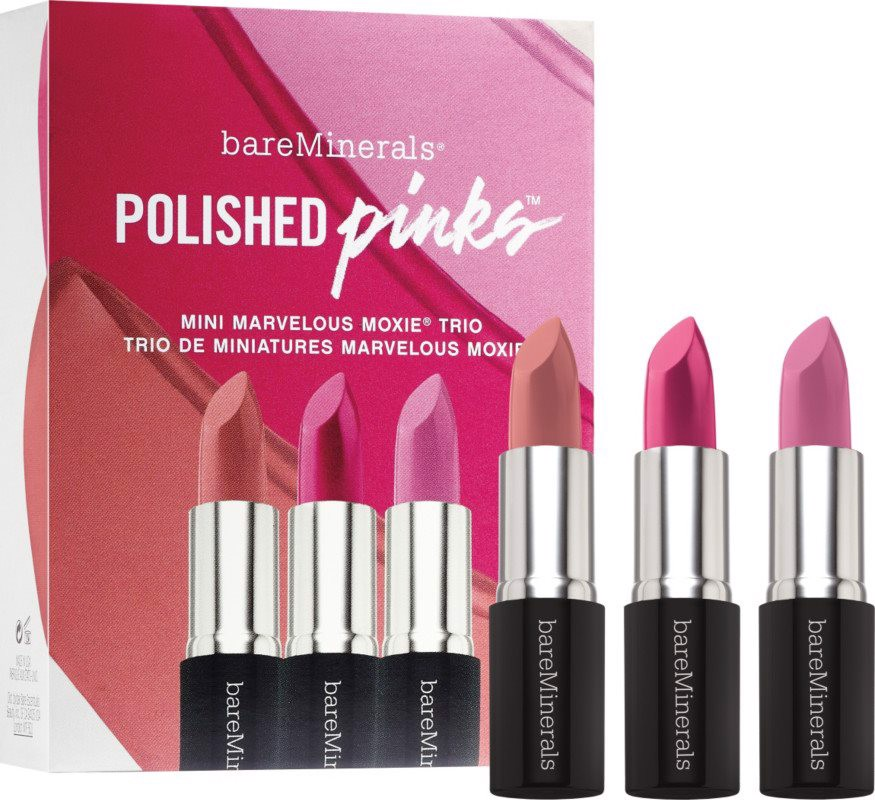 Set son màu bareMinerals Polished Pinks Mini Marvelous Moxie Trio