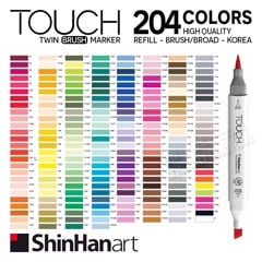 Bút marker SHINHAN ART - SHINHAN ART Touch Twin Brush Marker 204 colors