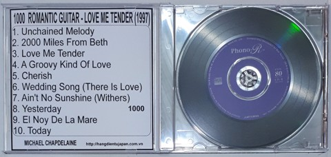 1000 (GUITAR) MICHAEL CHAPDELAINE - ROMANTIC GUITAR - LOVE ME TENDER (1997)