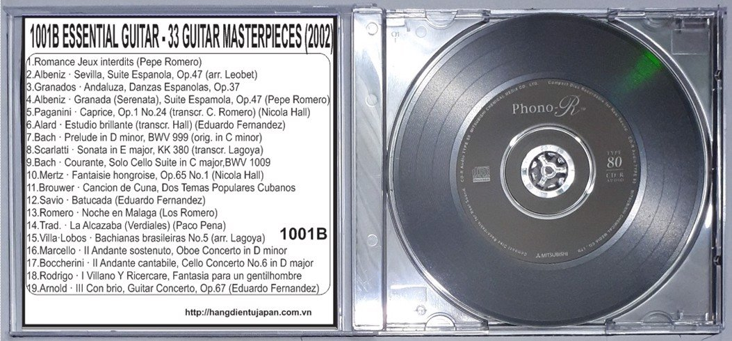 1001B (GUITAR) VA - ESSENTIAL GUITAR - 33 GUITAR MASTERPIECES (2002) - CD1