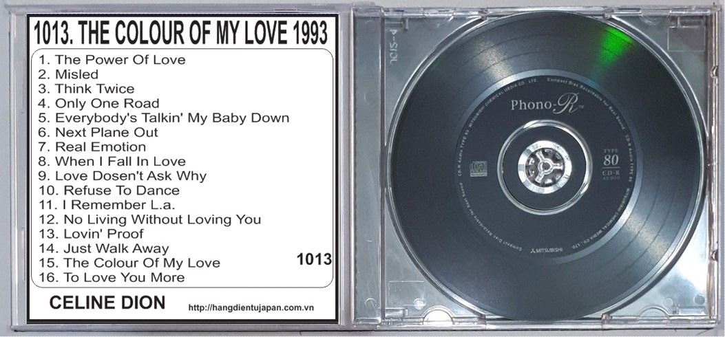 1013 CELINE DION - THE COLOUR OF MY LOVE 1993