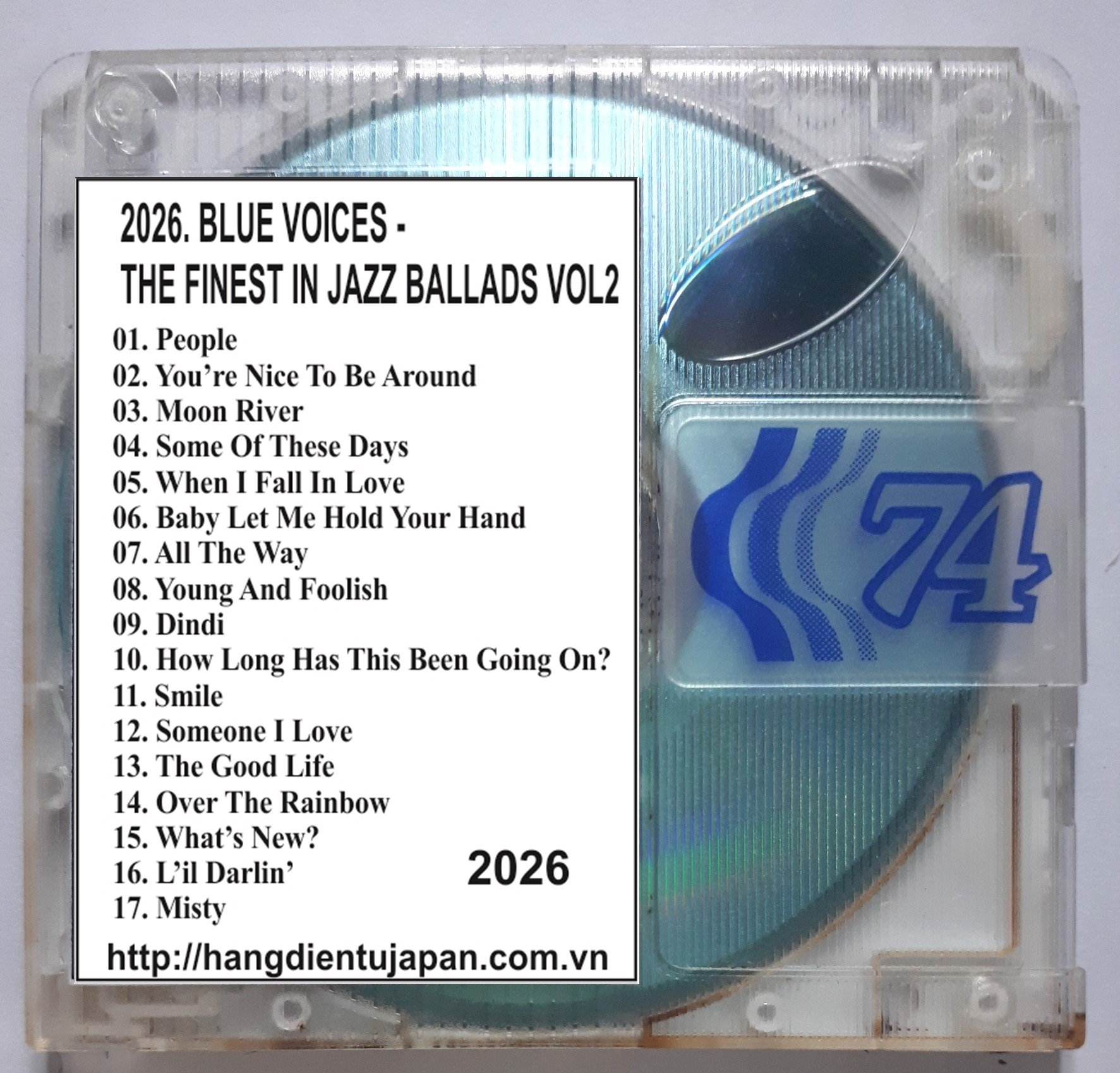 2026. AUDIOPHILE - BLUE VOICES - THE FINEST IN JAZZ BALLADS VOL2