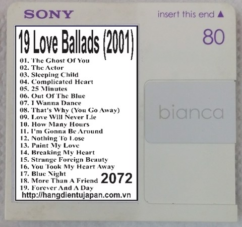 2072. Michael Learns To Rock - 19 Love Ballads (2001)