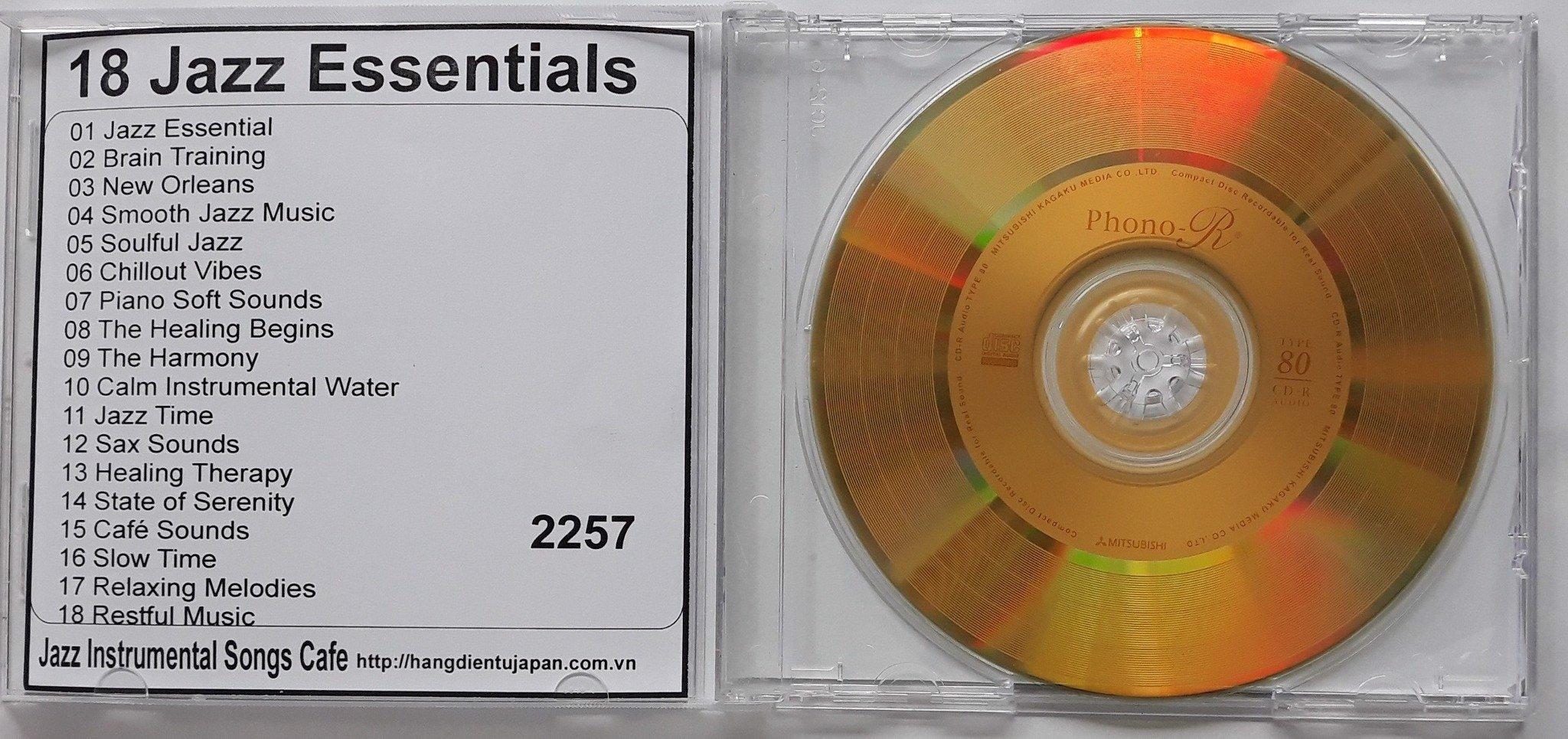 2257 Jazz Instrumental Songs Cafe - 18 Jazz Essentials - The Very