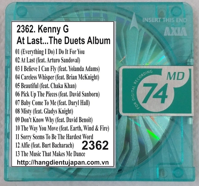 2362. Kenny G - At Last...The Duets Album
