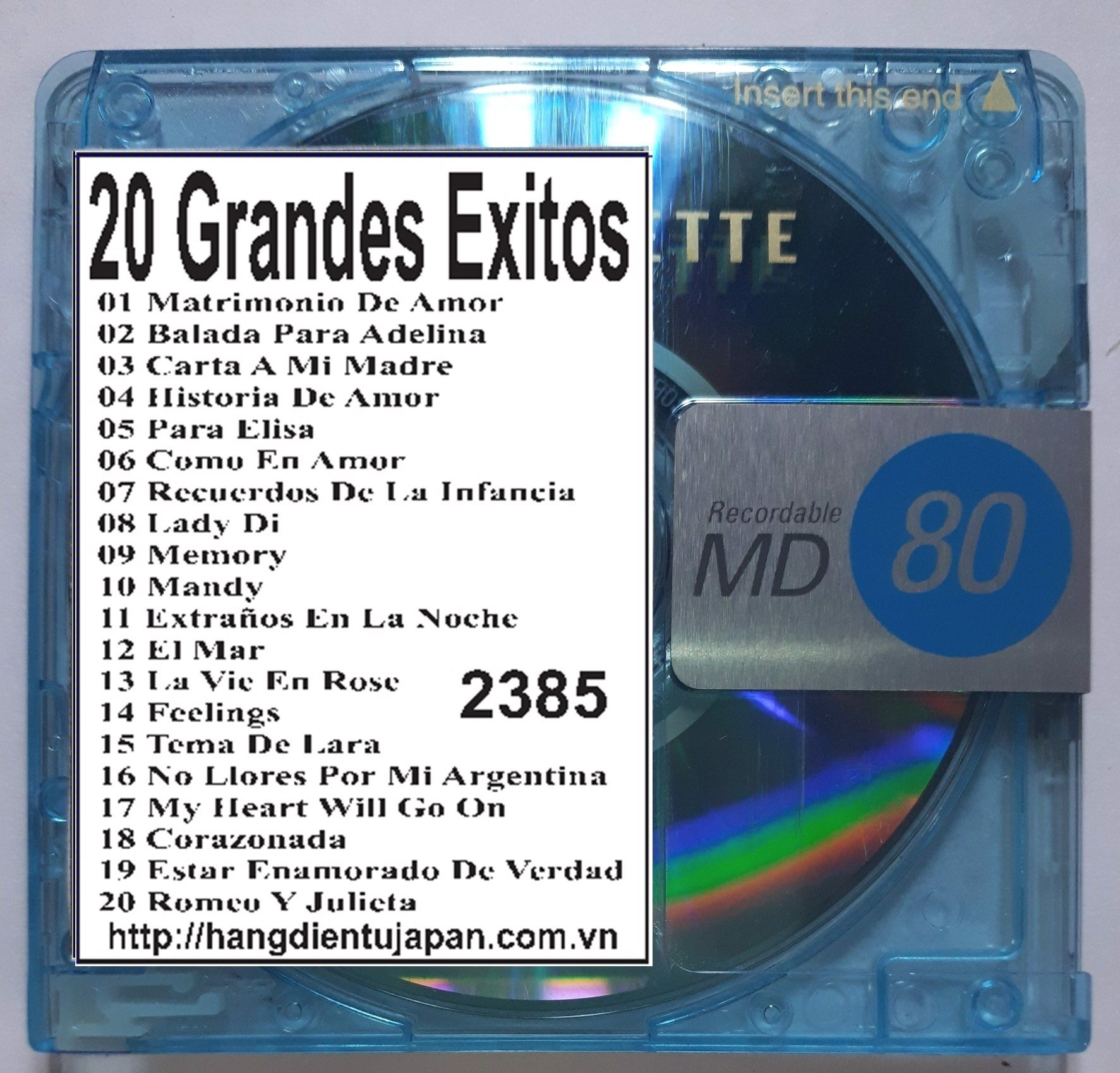 2385. Richard Clayderman - 20 Grandes Exitos