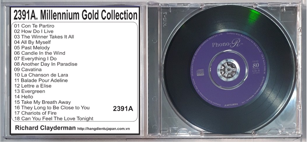 2391A. Richard Clayderman - Millennium Gold Collection