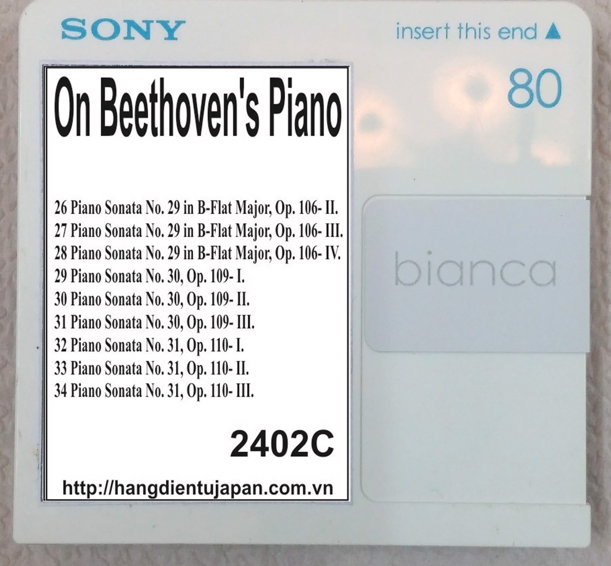 2402C. Ludwig van Beethoven - On Beethoven's Piano