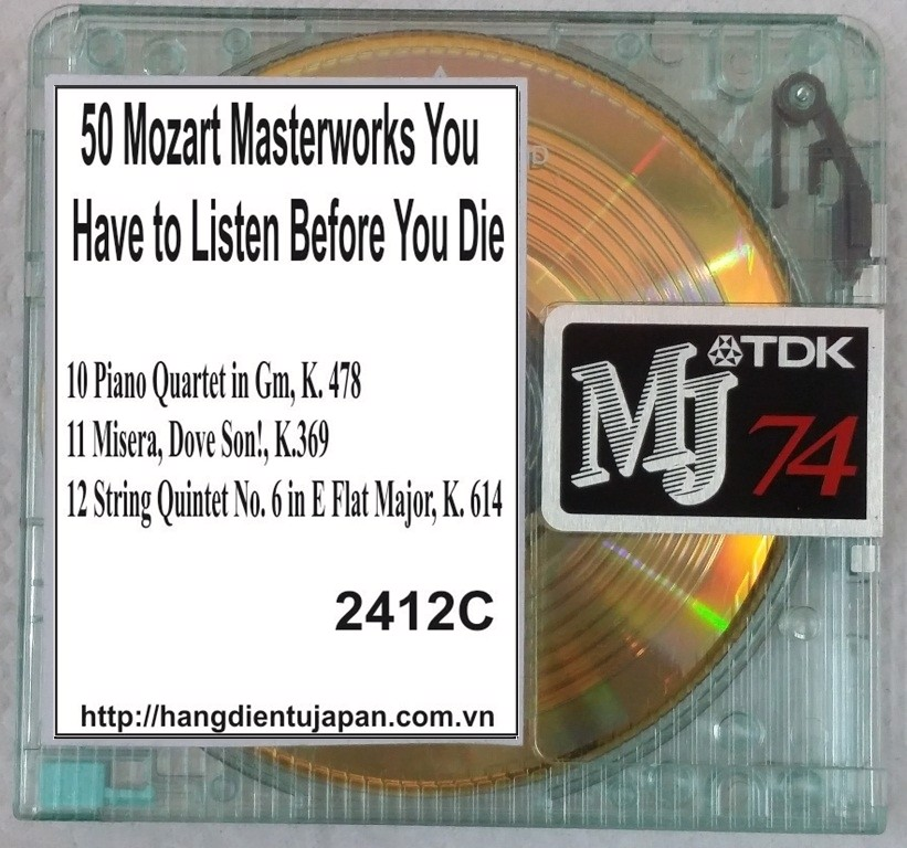 2412C. Wolfgang Amadeus Mozart - 50 Mozart Masterworks You Have to Listen Before You Die (Golden Deer Classics)