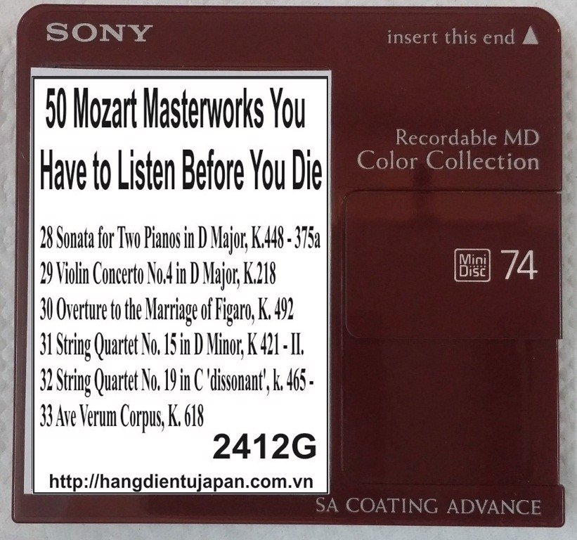 2412G. Wolfgang Amadeus Mozart - 50 Mozart Masterworks You Have to Listen Before You Die (Golden Deer Classics)