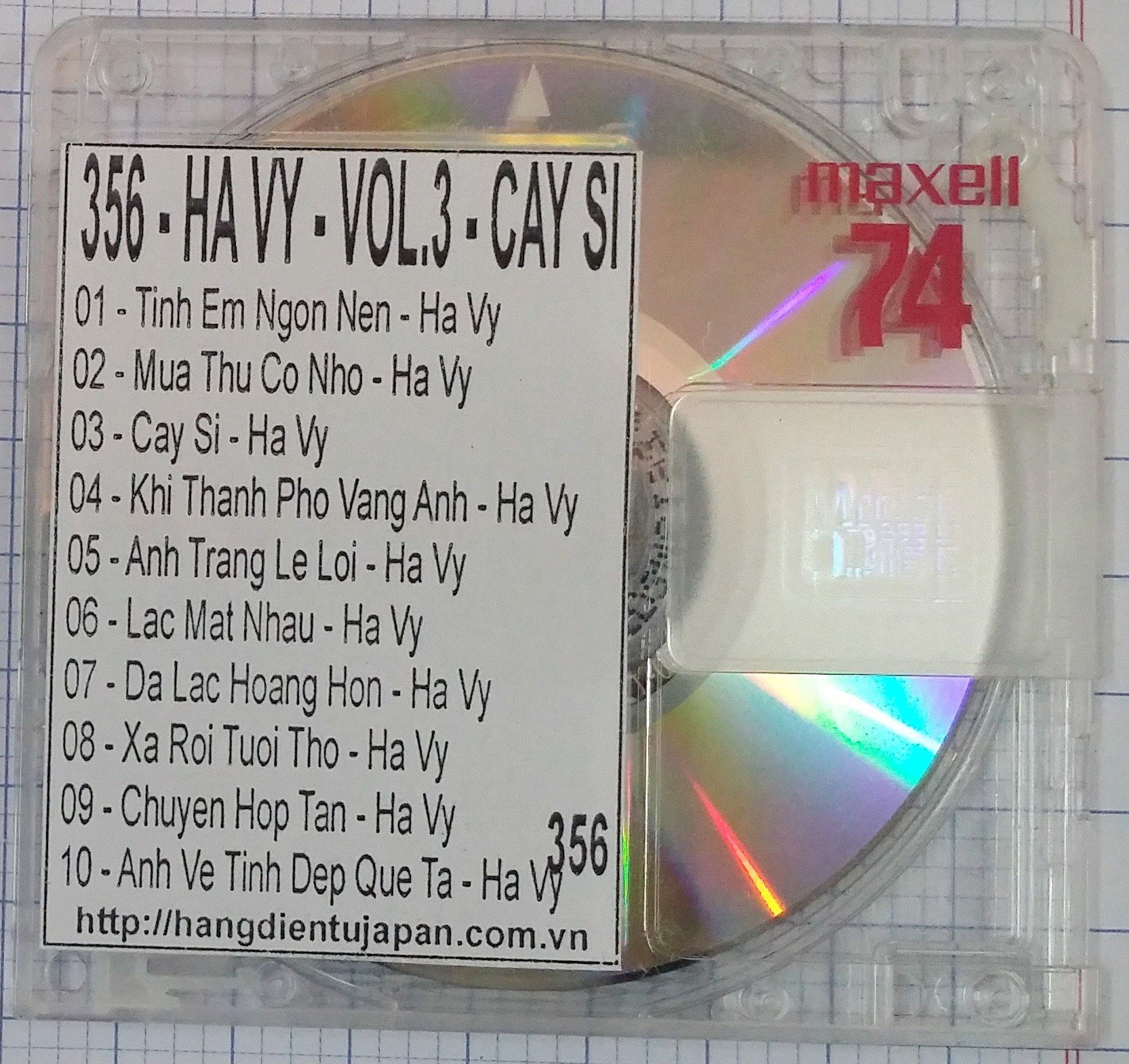 356 HAI AU CD 126 - HA VY - VOL.3 - CAY SI