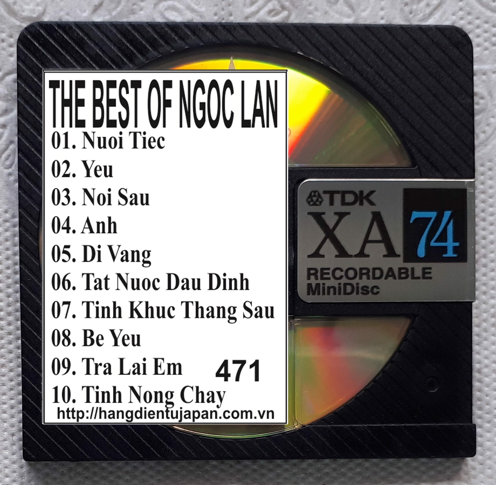 471 LANG VAN CD - 088 THE BEST OF NGOC LAN