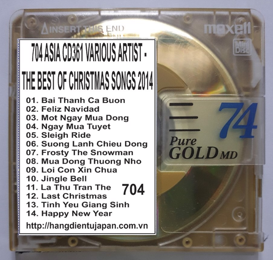 704 ASIA CD361 VARIOUS ARTIST - THE BEST OF CHRISTMAS SONGS (2014)