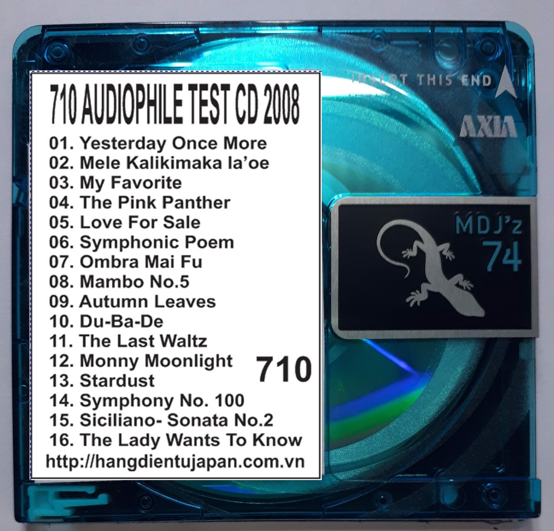 710 AUDIOPHILE TEST CD 2008
