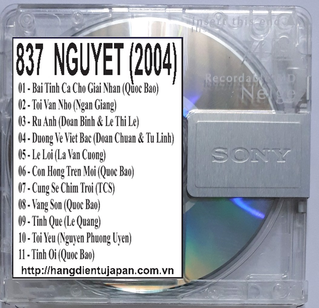 837 QUANG DUNG - VOL.1 NGUYET (2004)
