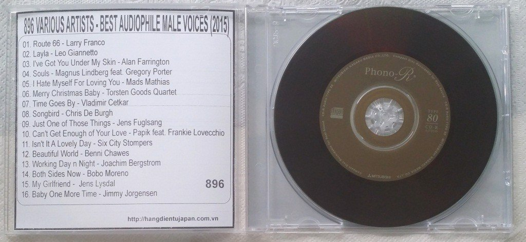 896 VARIOUS ARTISTS - BEST AUDIOPHILE MALE VOICES (2015)