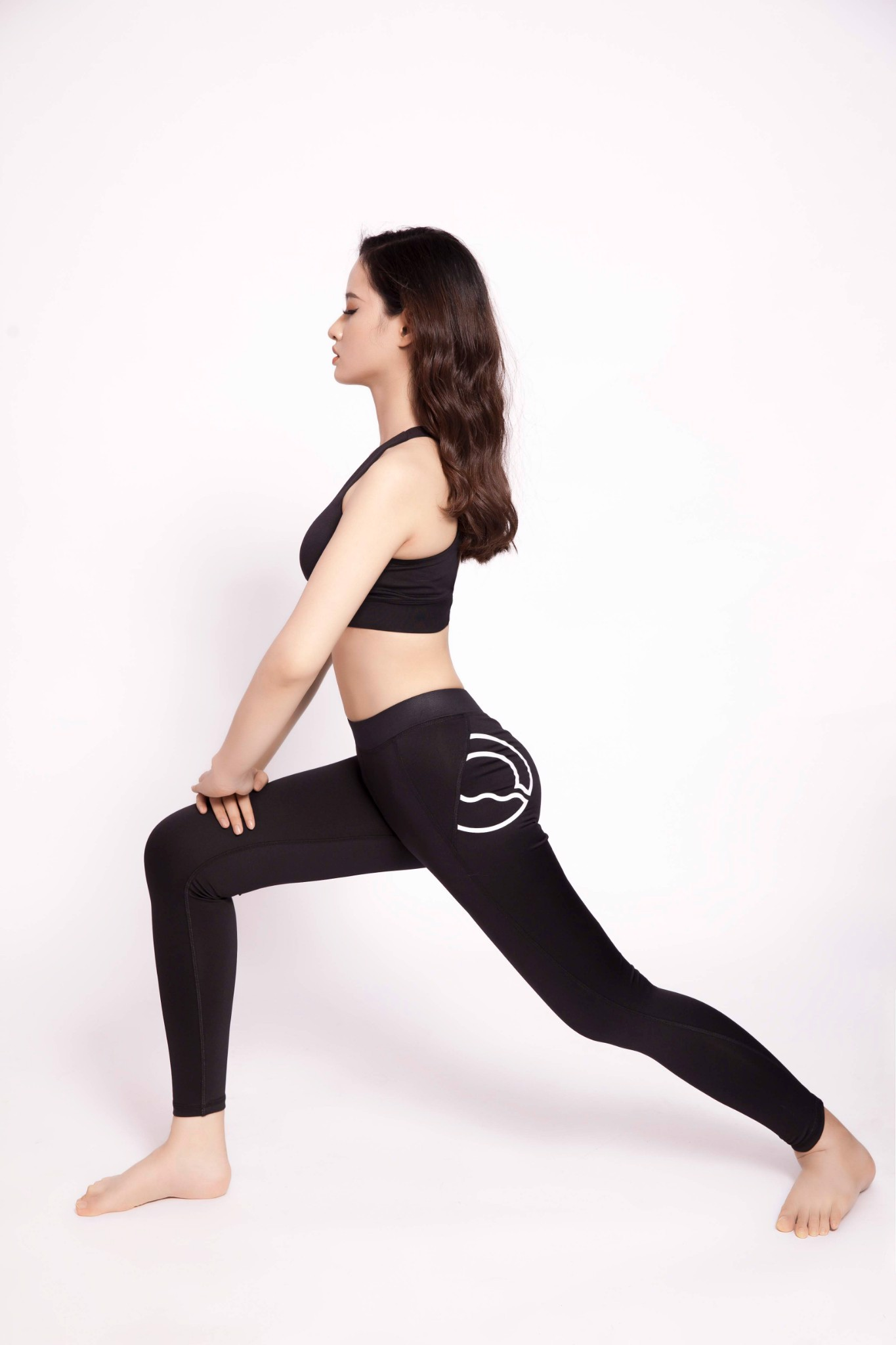 SB Sports Legging Black Logo Printed