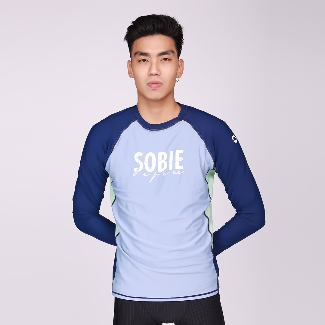 Áo Bơi Nam Wave Long Sleeved Light Blue