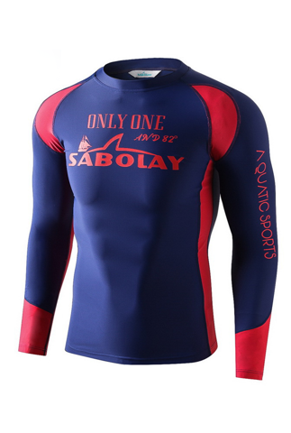Rashguard for man red