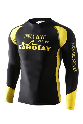 RashGuard for man yellow