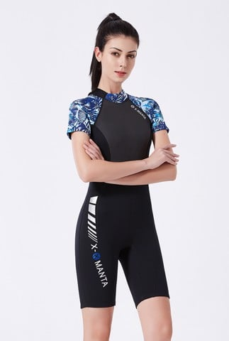 Wetsuit 1.5MM SCR Neoprene for man - ngắn tay hoạ tiết