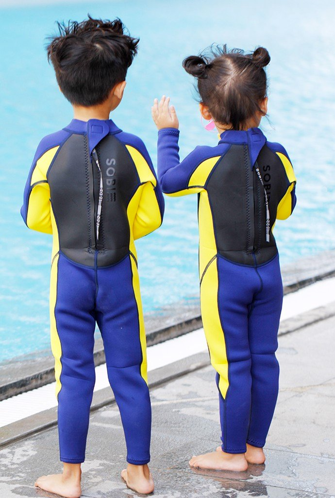 Wetsuit SOBIE Full Body Blue-Yellow