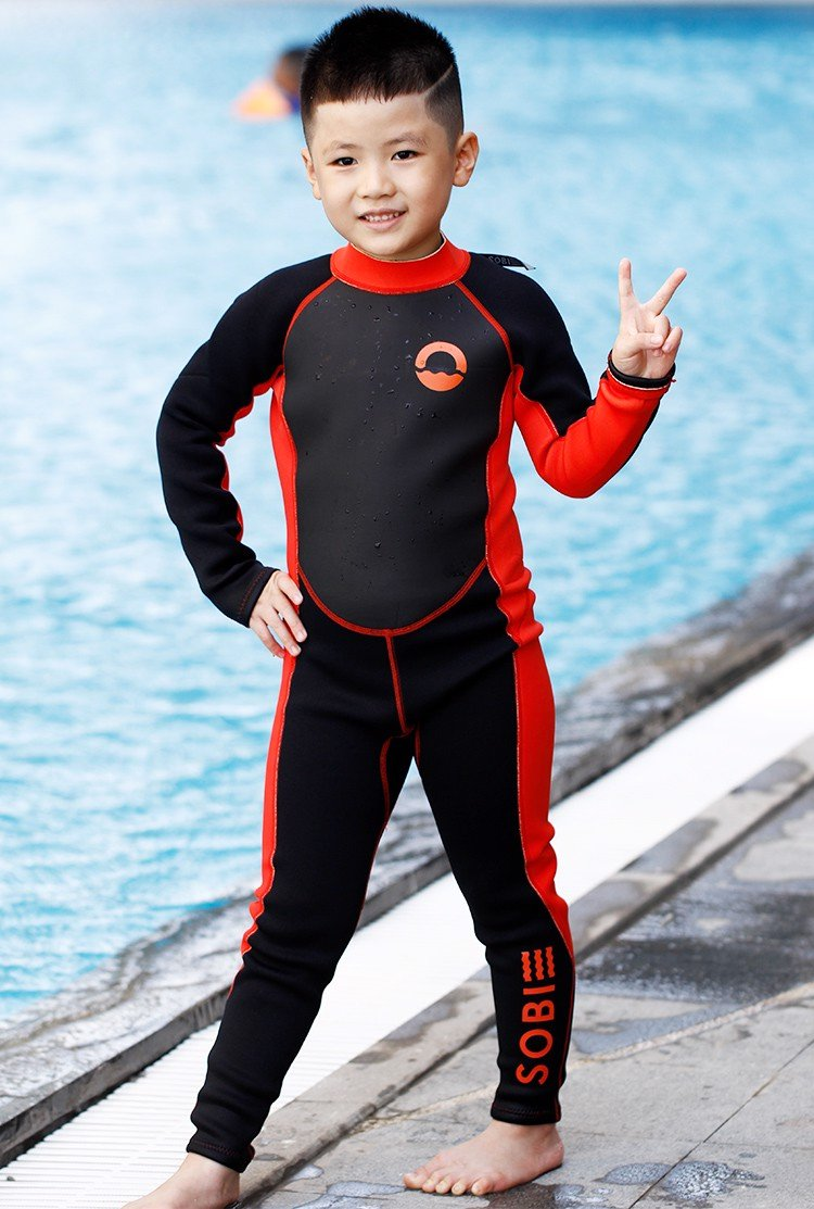 Wetsuit SOBIE Full Body Black-Red