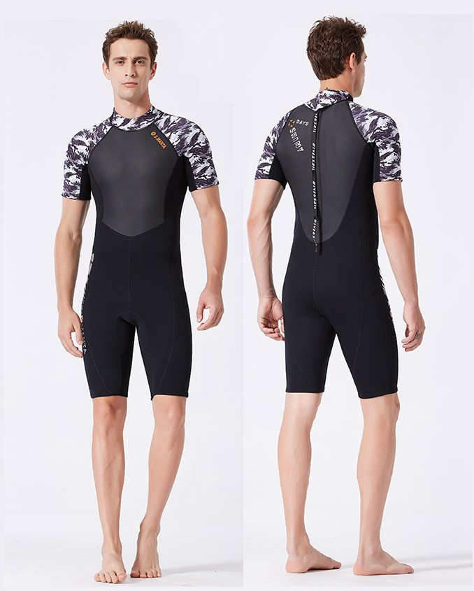 Wetsuit 1.5MM SCR Neoprene for man - ngắn tay