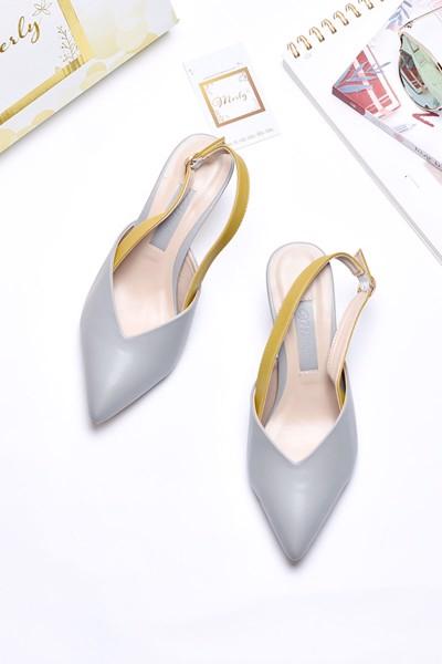 giày xăng đan merly 1186 xám vàng