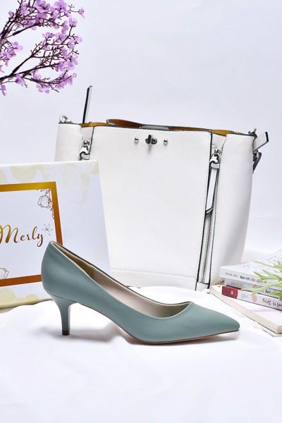 giày gót thấp merly 1200 xanh mint