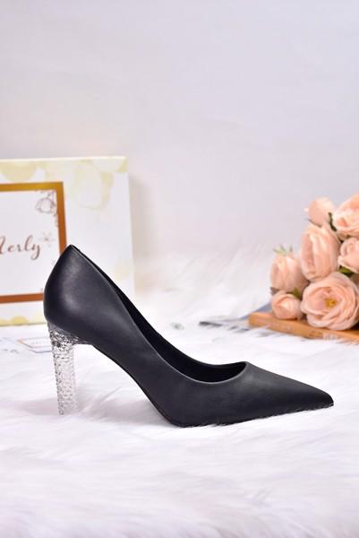 giày cao gót Merly đen
